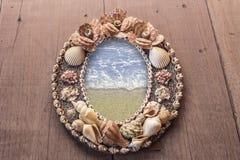 Rambild som göras från skal hav i ramen Royaltyfria Bilder