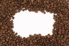 Rambilder som läggas ut från kaffebönor Arkivfoton