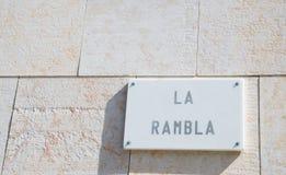 Rambla Royalty-vrije Stock Fotografie