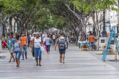 Rambla a Avana, Cuba Fotografie Stock