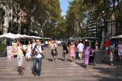 Rambla, Barcelona Royalty Free Stock Photos