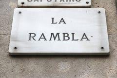 Rambla, Barcelona Stock Image