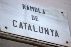 Rambla de Catalunya стоковое изображение
