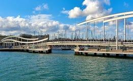 Rambla De mars et port Vell Photos libres de droits