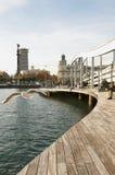Rambla del Mar, Barcelona Stock Images
