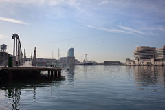 Rambla del Mar in Barcelona, Spain Stock Photography
