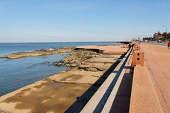 Rambla in Montevideo Uruguay Stock Photos