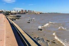 Rambla of Montevideo, Uruguay Stock Image