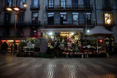 Ramblas Βαρκελώνη Στοκ εικόνα με δικαίωμα ελεύθερης χρήσης