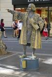 ramblas Христофора columbus Стоковое фото RF