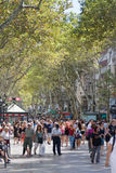 Ramblas, Barcelona Royalty Free Stock Images