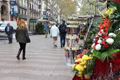 Ramblas, Barcelona Stock Photography