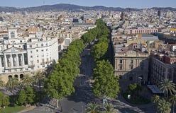 Ramblas in Barcelona, Spain Stock Photo