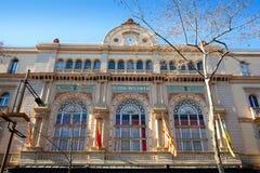 Ramblas van Barcelona Gran Teatro del Liceo Liceu stock foto's
