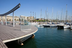 Ramble de Mar at Port Vell in Barcelona Royalty Free Stock Image