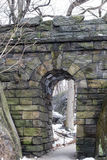 Ramble Stone Arch in Central park. Ramble Stone Arch is located on the West side at 77th street and was built in 1920 Stock Images