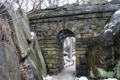 Ramble Stone Arch during the winter Stock Image