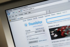 Rambler.ru main internet page Stock Images