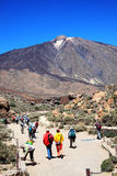 Ramblers hiking at Pico de Teide Royalty Free Stock Photography