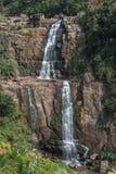 Ramboda waterfall in tea country, Sri Lanka Royalty Free Stock Images