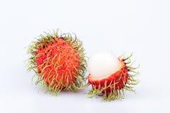 Ramboutan frais : fruit délicieux doux de ramboutan sur le backgro blanc Photo stock