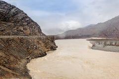 Rambunctious rzeka w Altai górach Fotografia Royalty Free