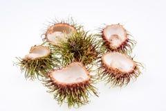 Rambutan με το σπόρο και το κοχύλι Στοκ Εικόνες