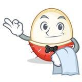 Rambutan ύφος κινούμενων σχεδίων μασκότ σερβιτόρων Στοκ φωτογραφία με δικαίωμα ελεύθερης χρήσης