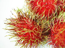 Rambutan. On dish or plate white color Stock Images