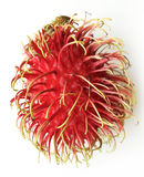 Rambutan. On dish or plate white color Royalty Free Stock Images