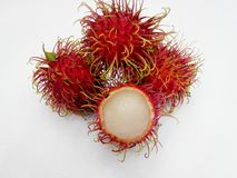 Rambutan. Agriculture green background garden delious Stock Images