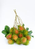 Rambutan. Asian fruit rambutan on white background Stock Photo