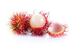 Rambutan auf weißem Hintergrund Stockfoto