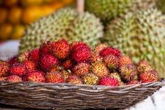 Rambutan in Cambodian Market Stock Image