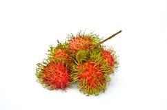 Rambutan close up. Tropical fruit Rambutan isolated on white background Stock Photo