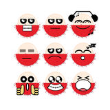 Rambutan da cara do ícone Imagens de Stock Royalty Free