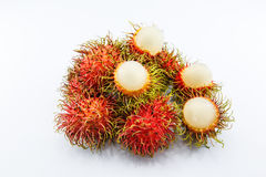Rambutan descascado Foto de Stock Royalty Free