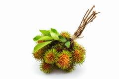 Rambutan dulce fresco, fruta tropical foto de archivo