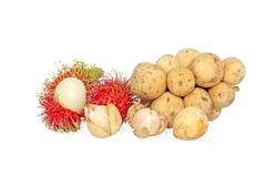 Rambutan en Longkong Stock Afbeelding