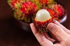 Rambutan en söt tropisk frukt Royaltyfri Bild