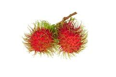 Rambutan fruit. On white background Stock Image