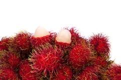 Rambutan fruit. Isolated on white backgroun Stock Photo