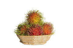 Rambutan. Fruit in Asia A sweet taste Stock Images