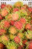 Rambutan fruit. Close up rambutan fruit in market Royalty Free Stock Photography