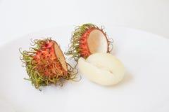 Rambutan fruit. Rambutan, fruit delicious in thailand Stock Photos