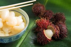 Rambutan fruit dessert Royalty Free Stock Photo