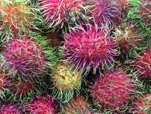 Rambutan. Fruit healthy in red color Stock Photography