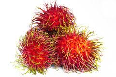 Rambutan fruit isolated Stock Photos