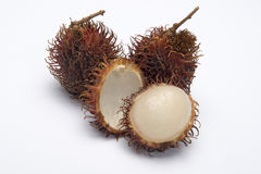 Rambutan fruit. Isolated on a white background Stock Image