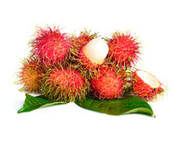 Rambutan fruit isolated on white background.  Stock Photography